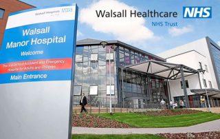 Outside of Walsall Manor Hospital
