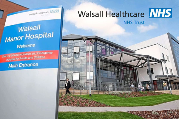 Outside of Walsall Manor Hospital