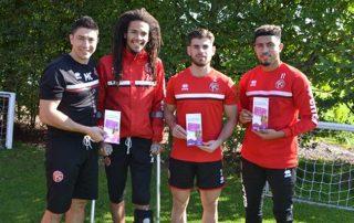 Saddlers physio marc supports organ donation week