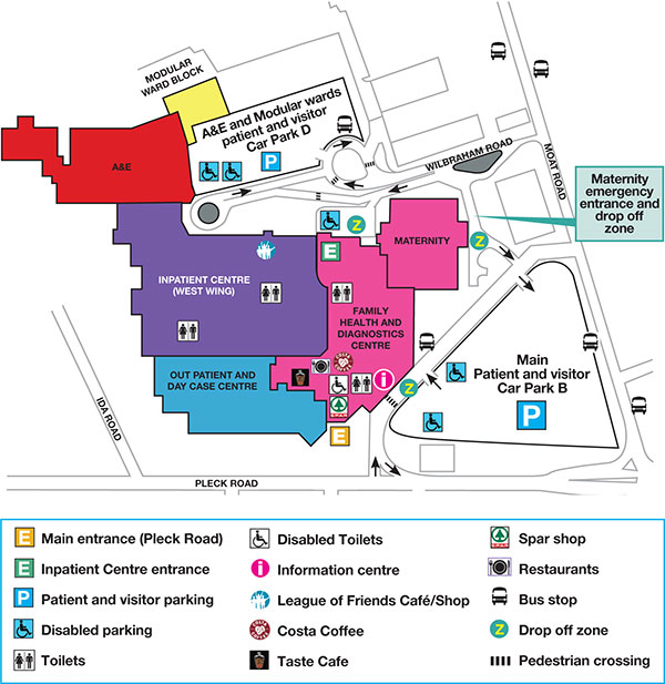 Walsall Manor Hospital site plan