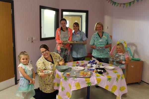 Cakes made by patients and staff