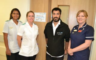 Staff from Pharmacy and the Discharge Lounge