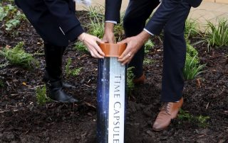 Time capsule buried outside the new ICU