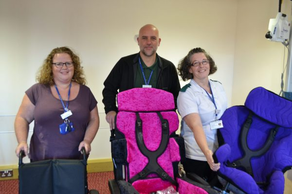 members of the walsall wheelchair service team