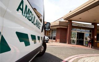 ambulance waiting outside emergency department