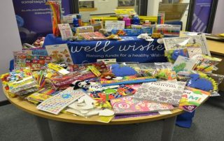 items donated for a crafty christmas appeal