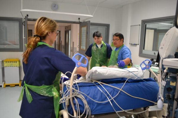 first patient moved into new icu