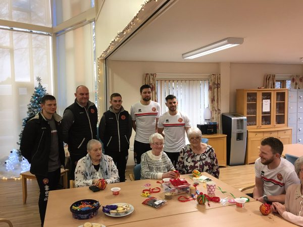 walsall fc players at fair oaks day hospice