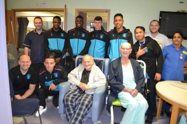 aston villa scholars visit ward 2