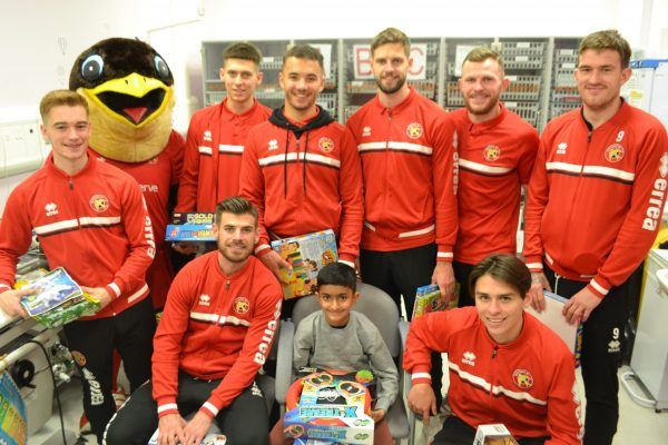 walsall fc players with patient Sami
