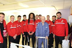 A warm welcome for Saddlers stars