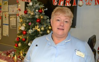 Tracey works on the stroke unit