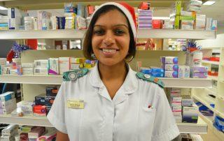 Lead pharmacist Heena is working at Christmas