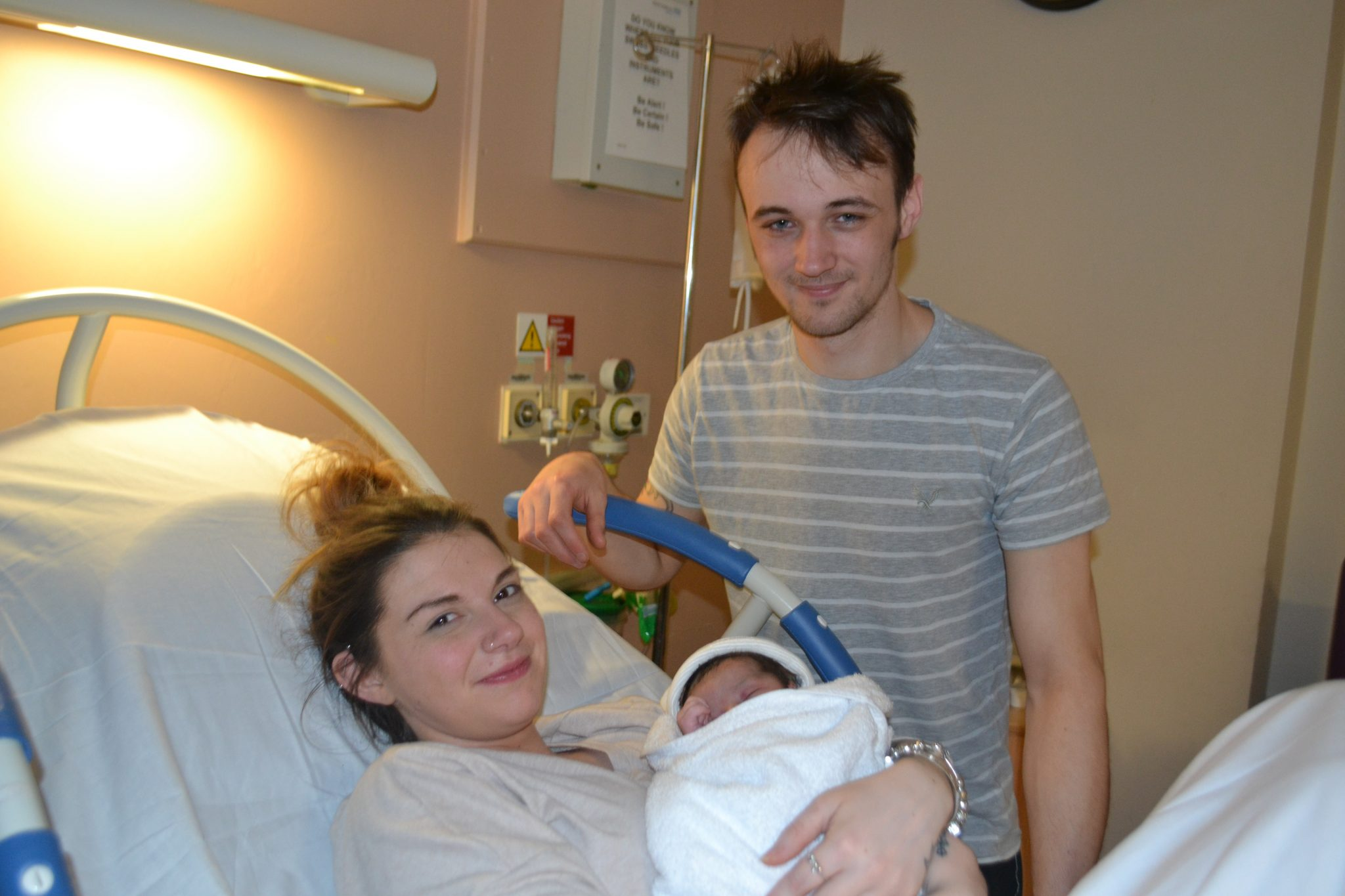 Leo was the first baby boy born on Christmas day