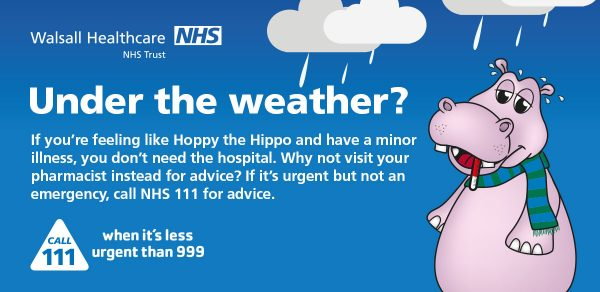 Under the weather winter health poster