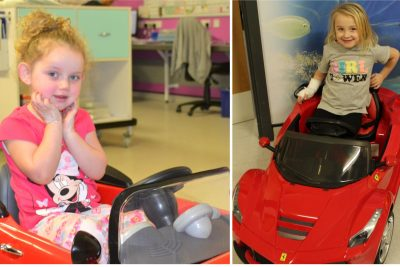 Toy car donation to children's ward
