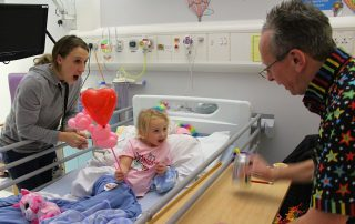 Magic Russ entertains our young patients
