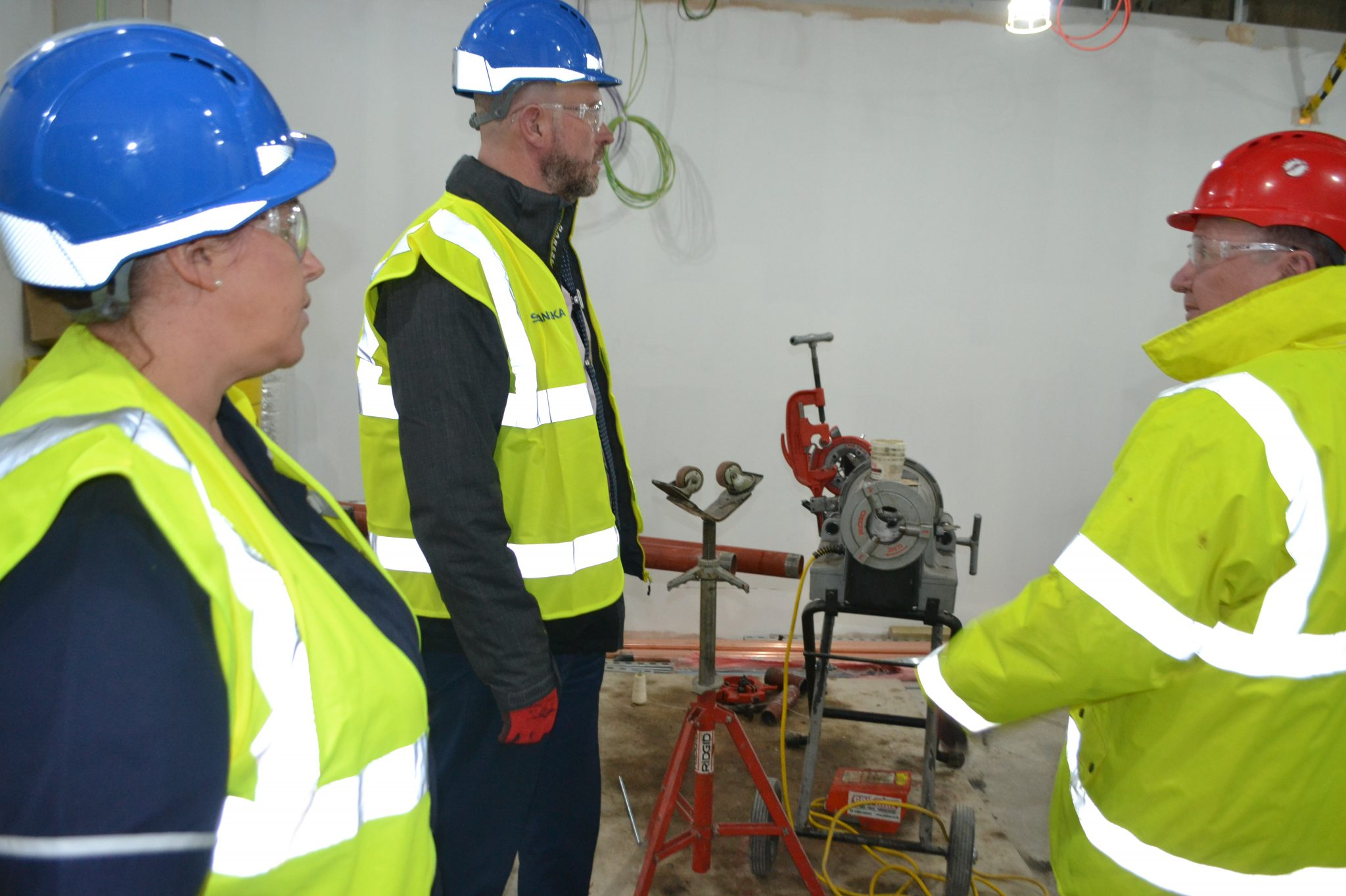 A tour inside the building work