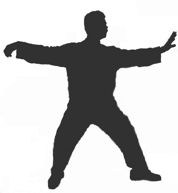 Figure doing Tai Chi