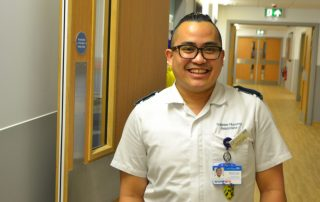 Trainee Nursing Associate Michael on ward 29