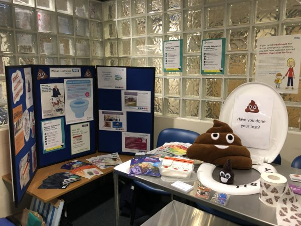 stand to promote bowel cancer awareness