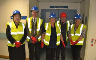 Marks and Spencer visit neonatal unit