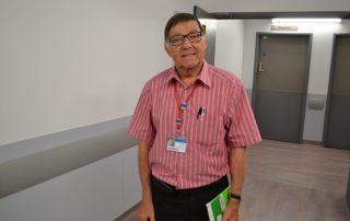 ICU volunteer Ken
