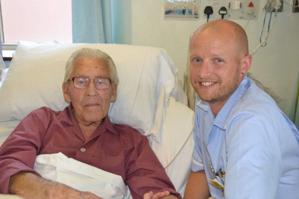CSW Paul with one of his patients