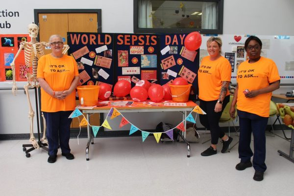 Staff on the sepsis stand
