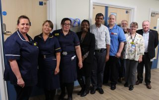 The team involved in our new neonatal unit