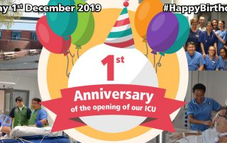 1st Anniversary of the opening of our ICU