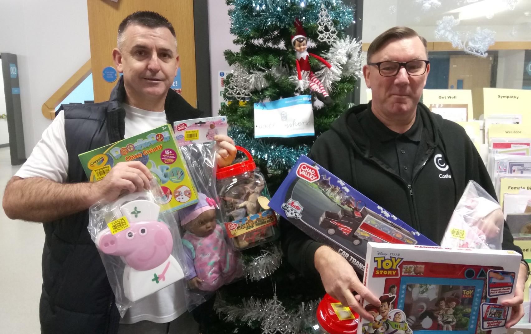 Grateful ITU couple donate Christmas toys