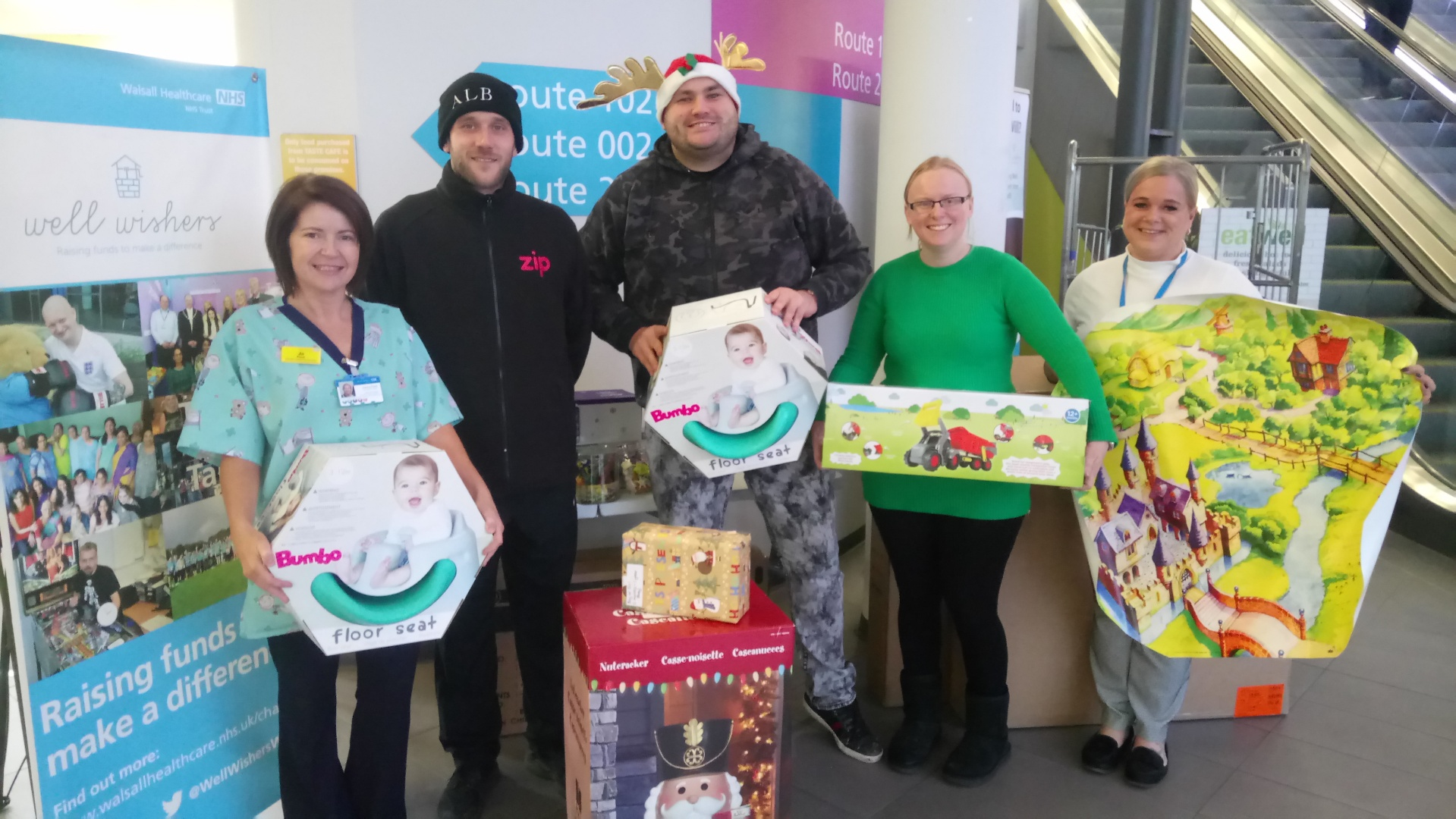 The haul of presents donated by Tameway Tower developers
