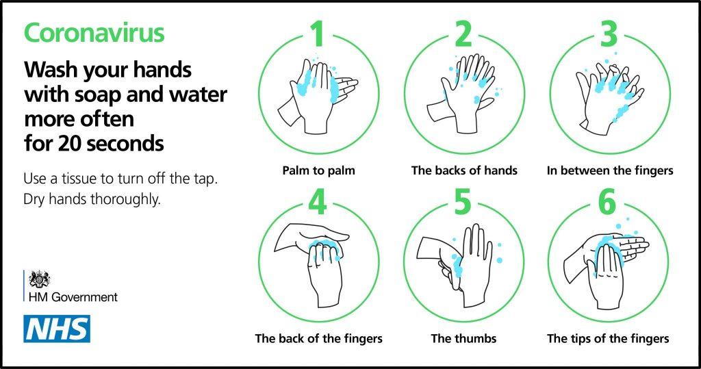 Coronavirus: Wash your hands more often for 20 seconds