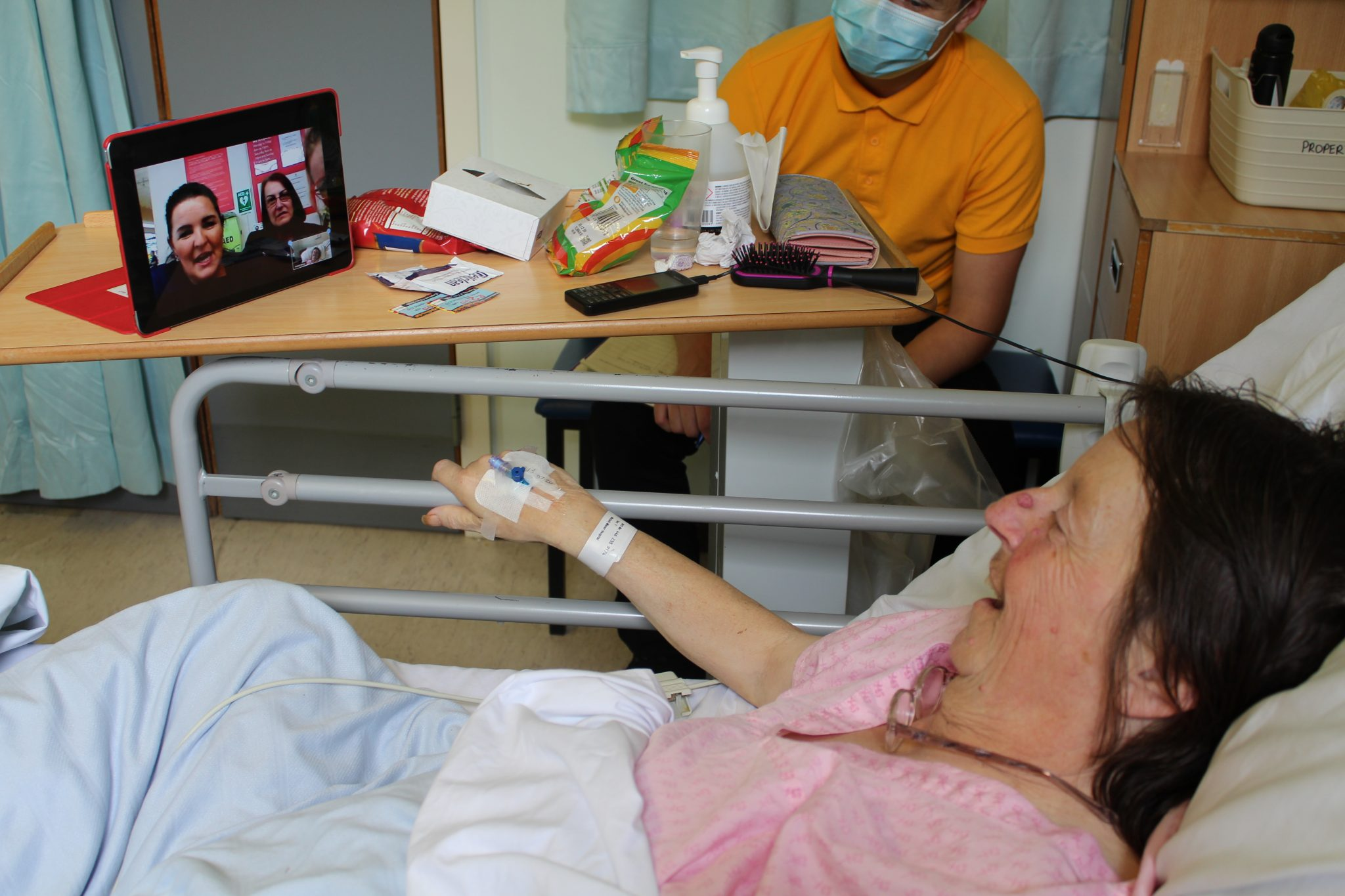 patient on video call