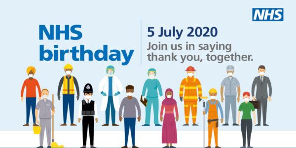 NHS birthday image