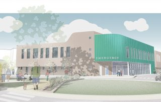 Artist's impression of new Emergency department entrance