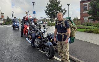 Steve with the veteran bikers
