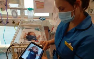 Baby max and midwife