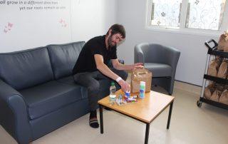 patient receiving donations