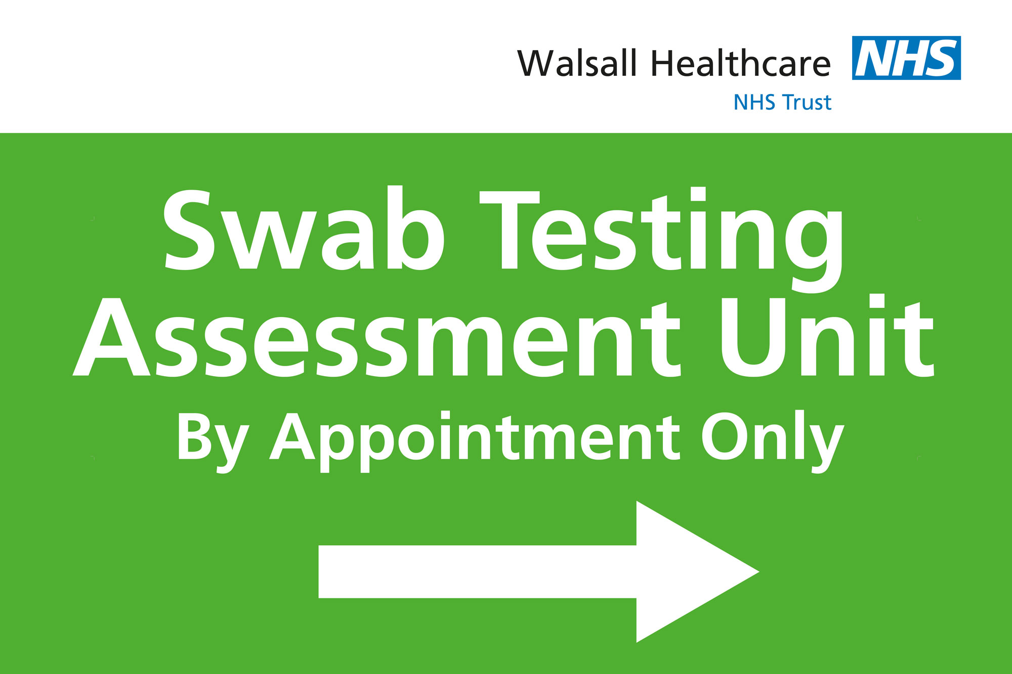 swab test unit sign
