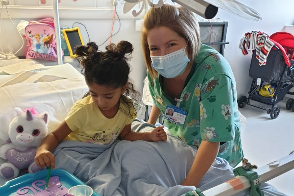 Jo with patient