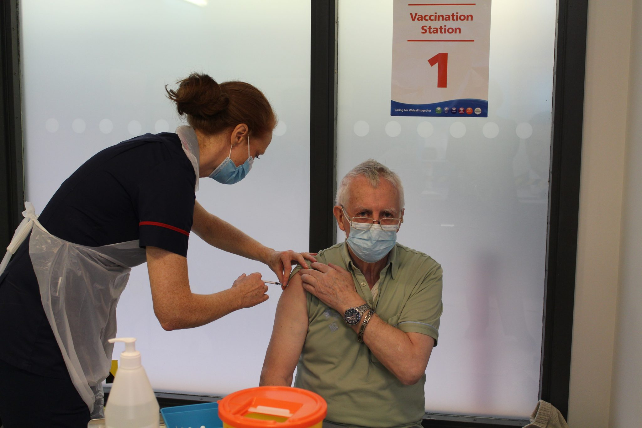 First patient vaccination