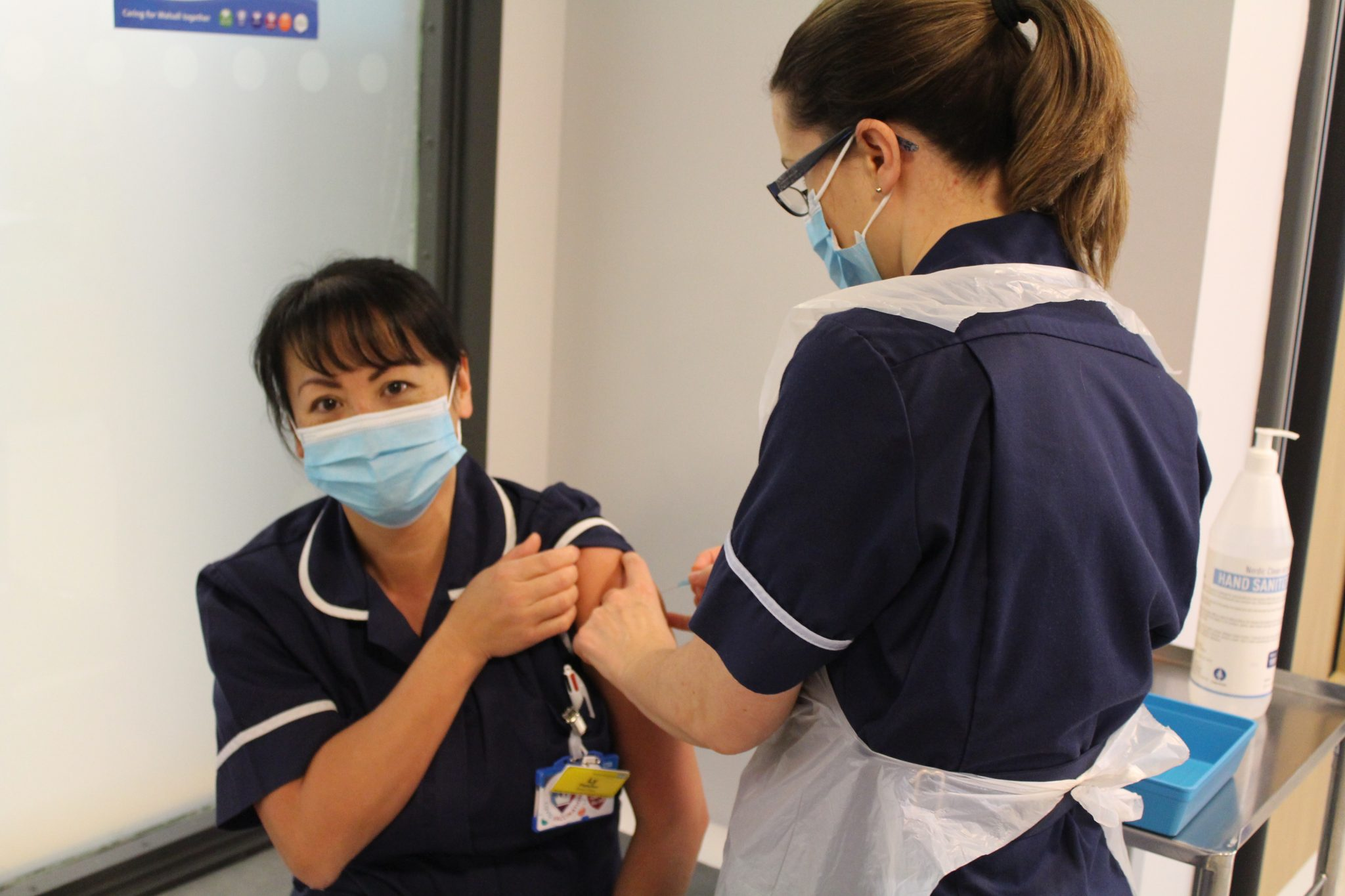 First staff vaccination