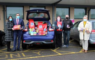 Donations are handed to stroke team