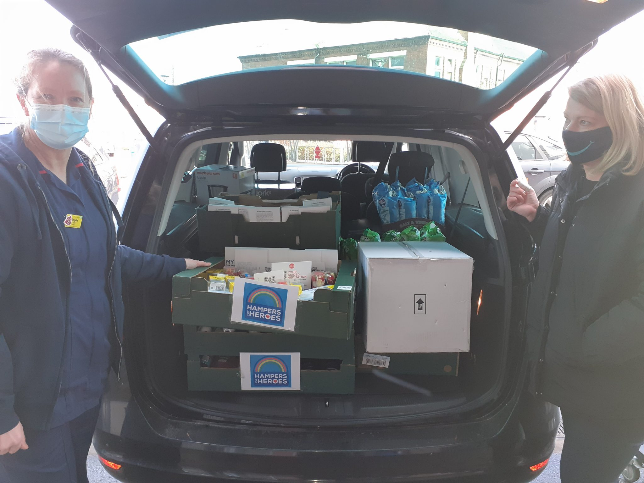 Hampers for heroes donation