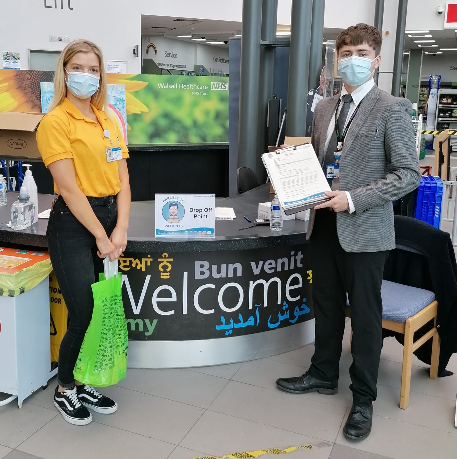 Volunteers support the Parcels to Patients service