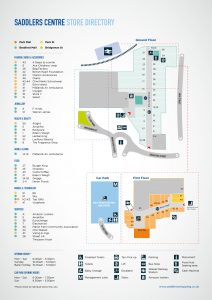 Saddlers Shooping Centre Map