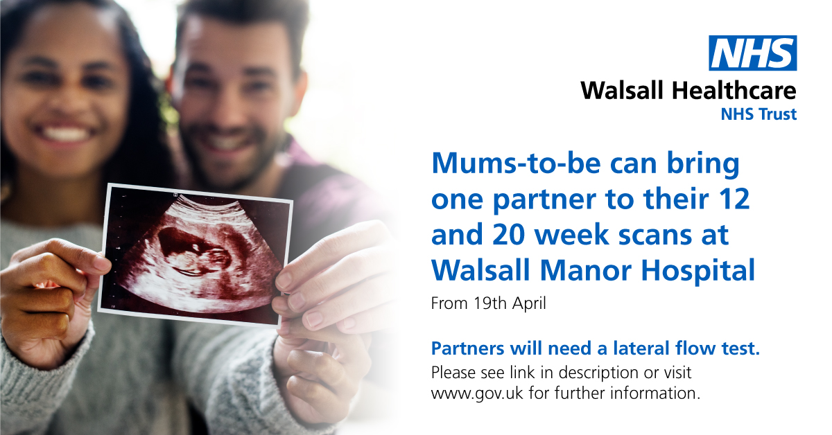 Partners can come to pregnancy scans with mums-to-be from 19 April