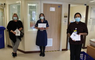 Staff with bereavement cards